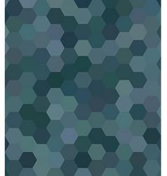 Teal abstract hexagonal honey comb background vector image