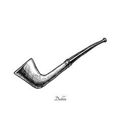 tobacco pipes dublin vector image