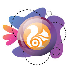 uc browser logo inside multicolor graphics icon vector image