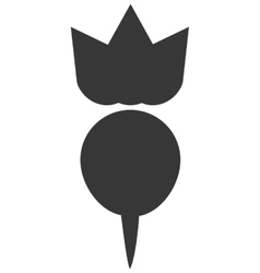 Whole radish icon silhouette vector