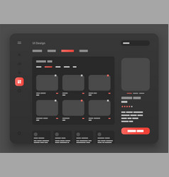 Wireframes screens dashboard ui and ux design vector