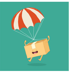 your package rushes to you parachute graphics vector image