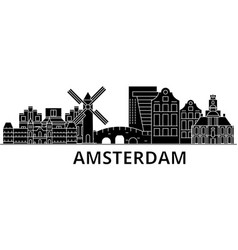 amsterdam architecture city skyline travel vector image