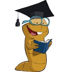 bookworm vector image