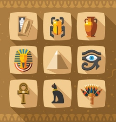 Egypt icons and design elements vector image vector image