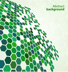 green abstract digital background vector image