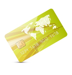 Green Credit Card Isolated on White Backgrou vector image vector image