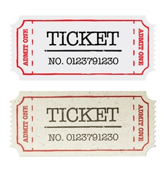 ordinary and golden tickets vector image vector image