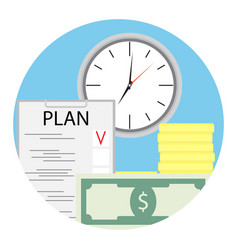 Plan finance for business vector