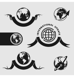 Planet symbol set vector image
