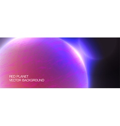 red planet vector image