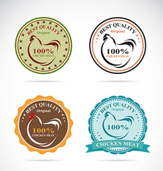 Set of an chicken label vector image