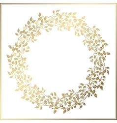 Beautiful Vintage Circle Frame Wedding decor vector image vector image