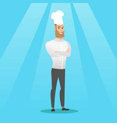 confident male chief cook with arms crossed vector image vector image