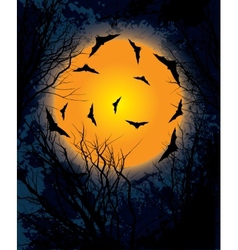 Halloween moon night background vector