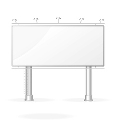 white billboard screen template vector image vector image