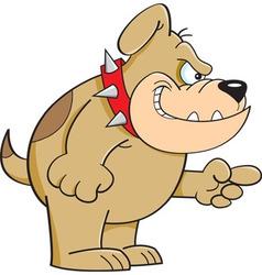 Cartoon Angry Bulldog vector image