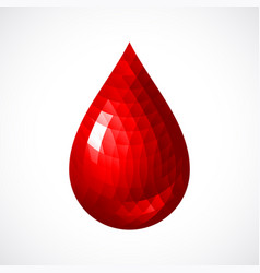 red blood drop icon vector image