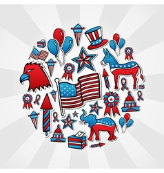 USA elections style icons vector image vector image