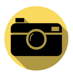 digital photo camera sign flat black icon vector image vector image