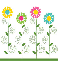 flowers pattern 3 vector image vector image