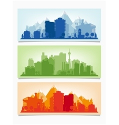 horizontal banners of cityscape Urban vector image vector image