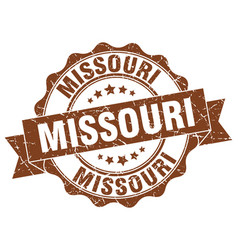 Missouri round ribbon seal vector