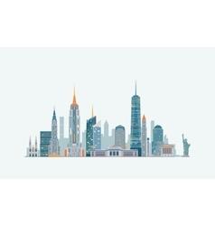 New York abstract skyline vector image
