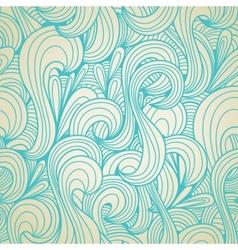 retro swirls seamless wallpaper vector image vector image