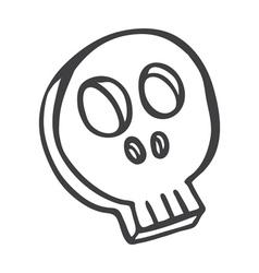 skull doodle vector image