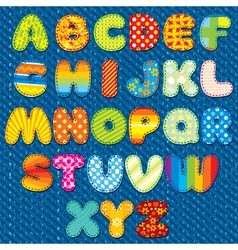 Stitches Font vector image vector image