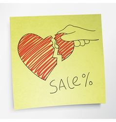 valentines holidays sale concept vector image vector image