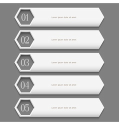 White stylish Design template vector image vector image