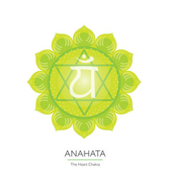 Anahata - chakra icon vector