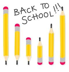 Back to school pencil pattern vector