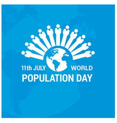 Banner or poster of world population day globe vector