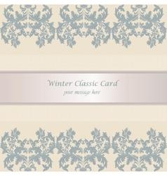 Baroque Winter Invitation card vector image