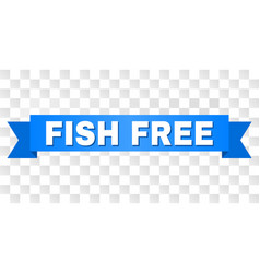 blue stripe with fish free title vector image