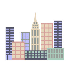 business district office buildings vector image