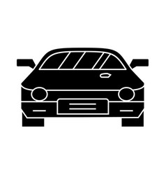 car - race - racing icon vector image