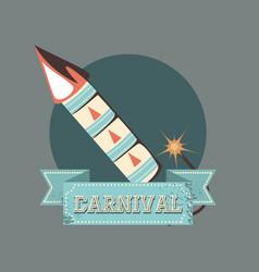 carnival fireworks celebration retro vintage vector image