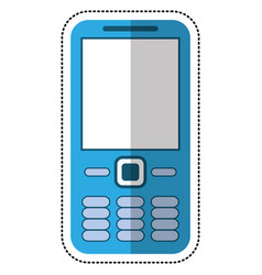 Cartoon mobile phone call technology vector