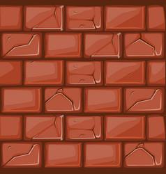 Cartoon red stone wall texture vector