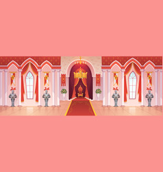 castle ballroom interior medieval royal palace vector image