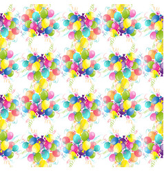 celebration festive seamless pattern with colorful vector image