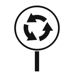 Circular motion road sign icon simple style vector
