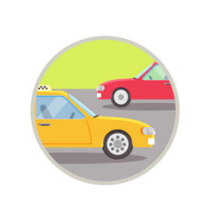 City transport taxi icon vector
