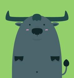 Cute fat big Thai buffalo vector