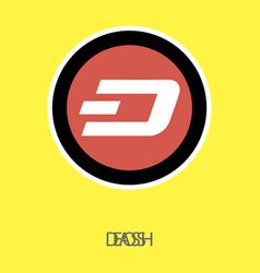 Dash accepted sign emblem 3d isometric physical vector