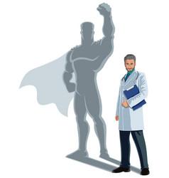 Doctor superhero shadow vector